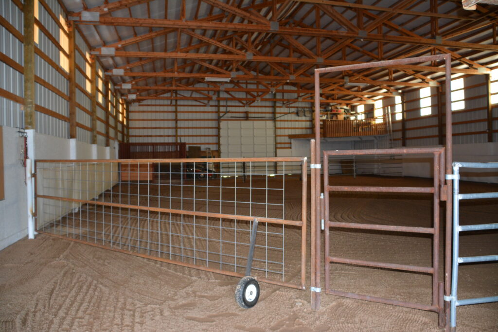 Indoor Arena At Quarters for Horses